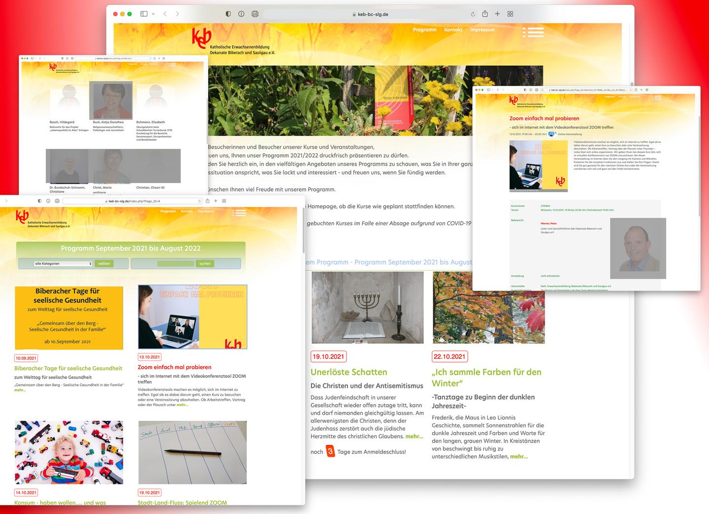 Bild:Die neue Website der keb Dekanate Biberach und Saulgau e.V. - https://keb-bc-slg.de